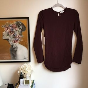 Aritzia Wilfred colza blouse in truffle XXS